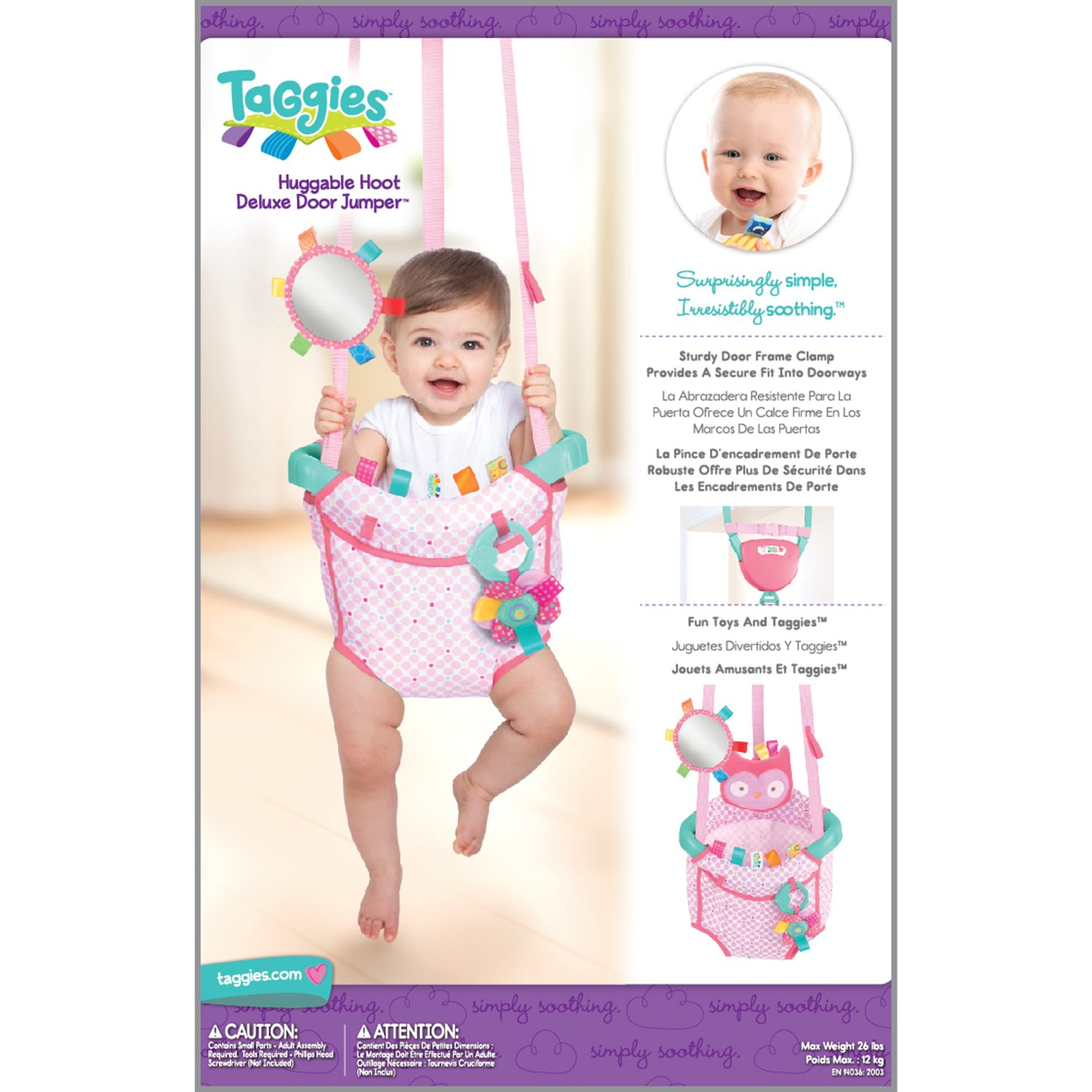 Amazon.com: Taggies Deluxe Door Jumper, Huggable Hoot: Baby