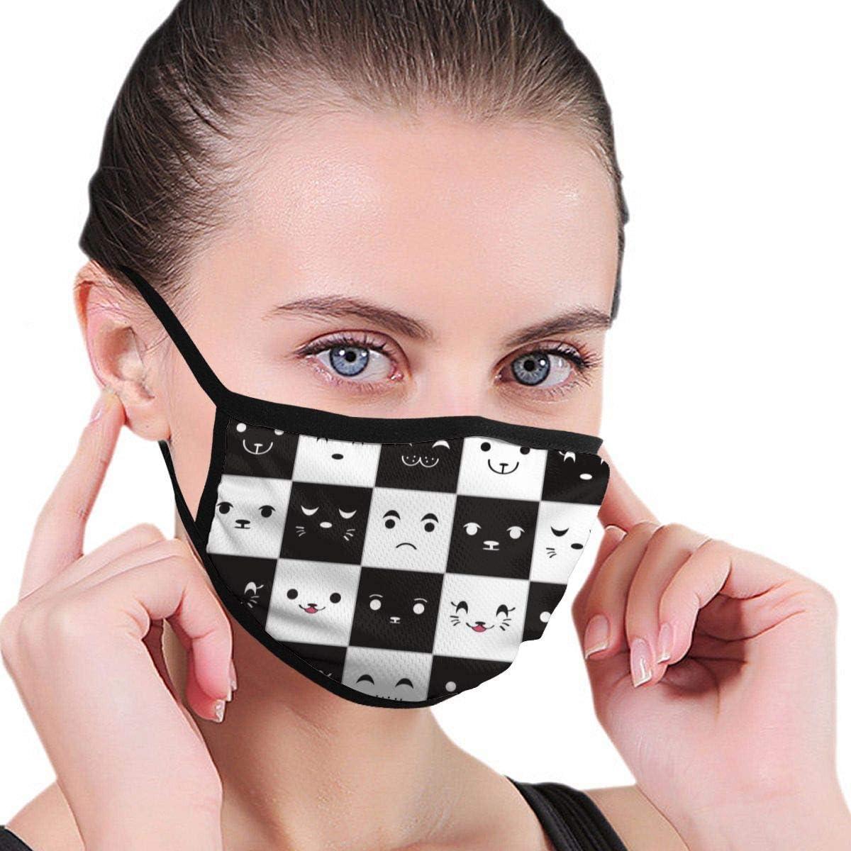 Máscara Divertida de la Boca de la expresión, máscara Facial Unisex del Bucle del oído del Adulto, máscara Caliente de la Moda del Ciclismo del esquí