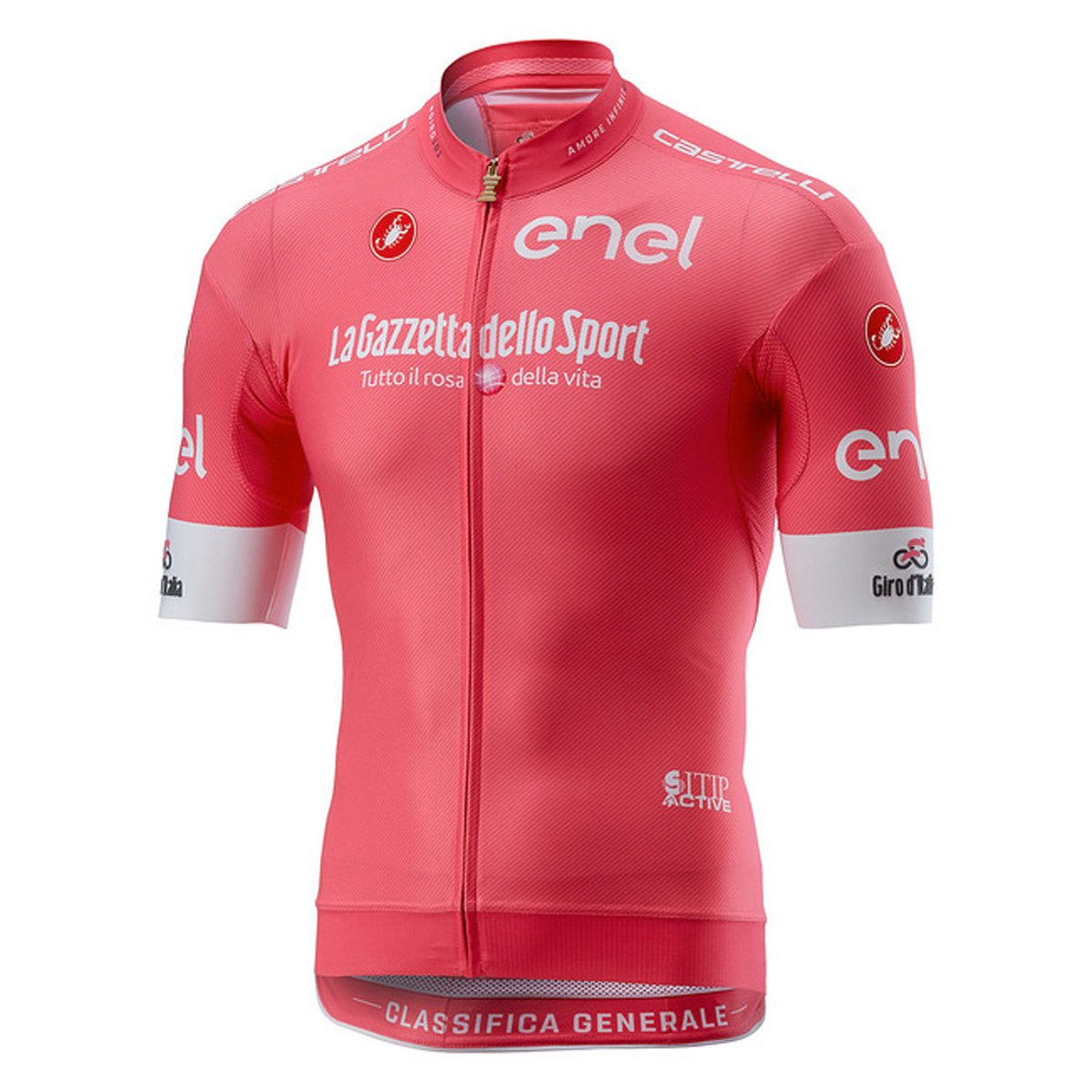 Castelli Giro RaceフルジップJersey – Men 's B07CVNRPZR  Rosa Giro Large
