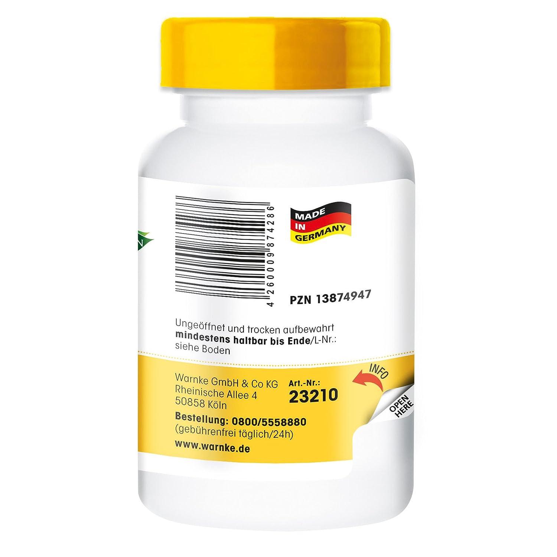 DL-Fenilalanina 500mg - 100 pastillas - Warnke Vitalstoffe: Amazon.es: Salud y cuidado personal