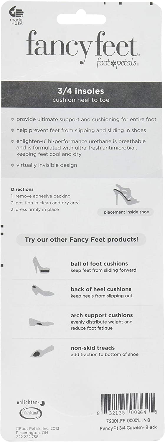 One Pair of Cushioned Heel In.. Foot Petals Glamour Toes Back of Heel Cushions