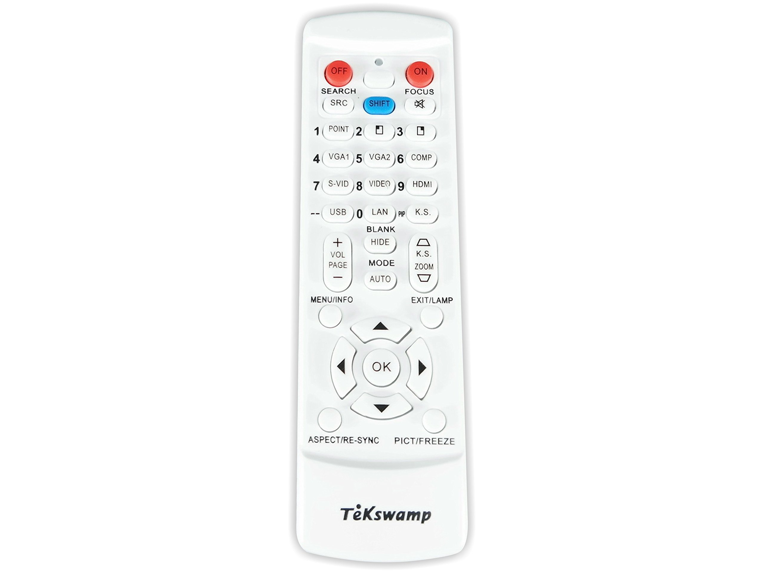 Barco RLM-W8 TeKswamp Video Projector Remote Control (White) by Tekswamp (Image #5)