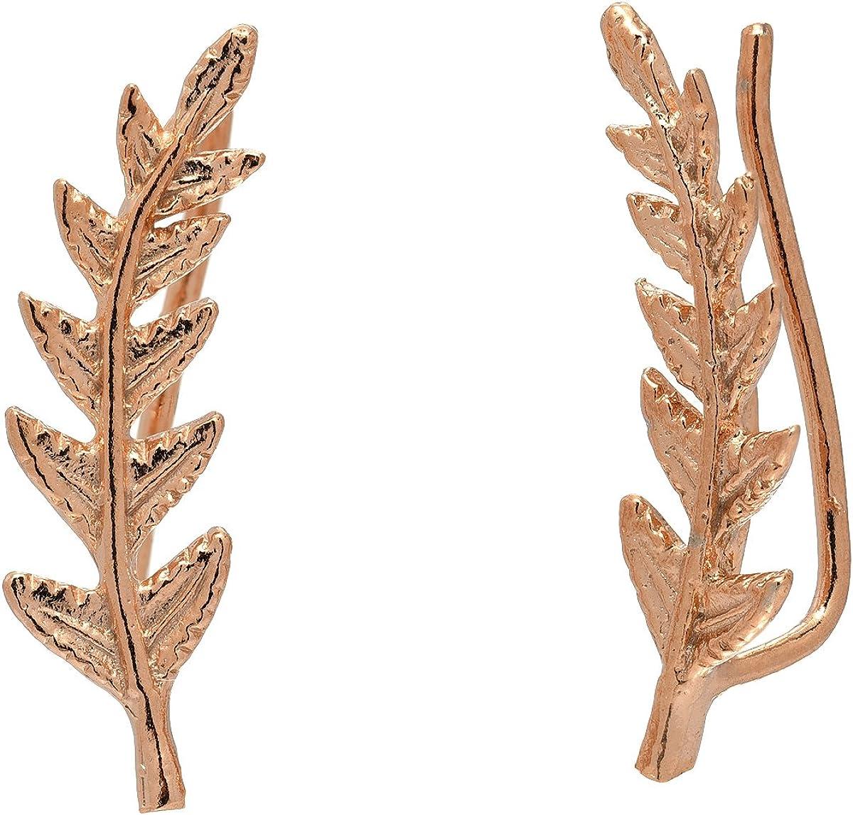 Leaf Crawler Cuff Earrings...