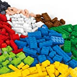 Building Bricks - 415 Pcs Bulk Blocks with Roof Pieces - Tight Fit and Compatible with All Major Brands