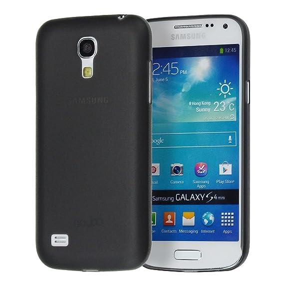 doupi UltraSlim Case Samsung Galaxy S4 Mini Fine Matte Feather Light Bumper Protector Sleeve Skin Cover - Black