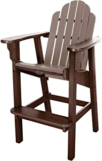 product image for Nags Head Hammocks Classic Bar Dining Chair, Chocolate and Weatherwood