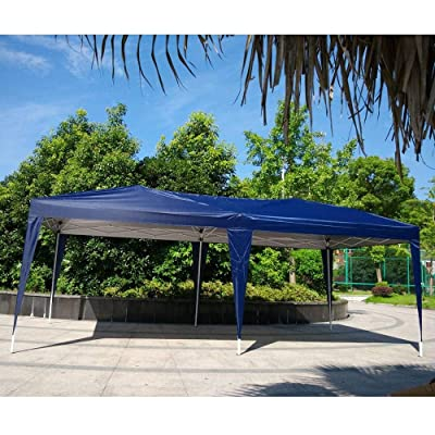 ZBYZF 10' x 20' Pop Up Canopy Tent Outdoor Gazebo for Party Wedding Commercial Activity Beach Use with Carry Bag : Garden & Outdoor