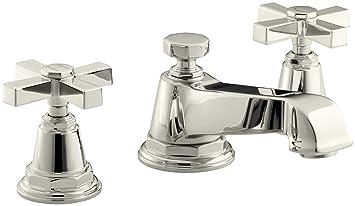 KOHLER K-13132-3A-SN Pinstripe Pure Widespread Lavatory Faucet ...
