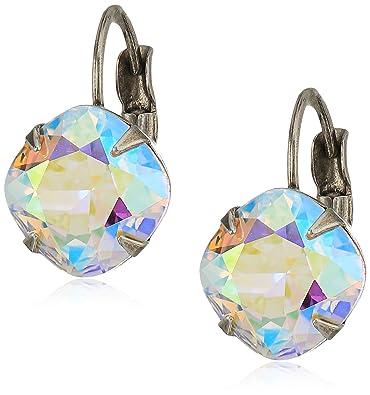 266a120ec Amazon.com: Sorrelli Essentials Crystal Ab Cushion Cut French Wire Drop  Earrings: Jewelry