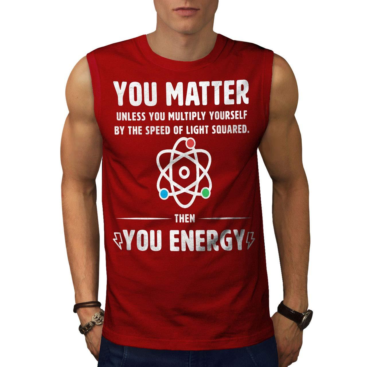 Wellcoda Physics Science Funny Mens Sleevless T-Shirt, You Matter Active Top Shirt