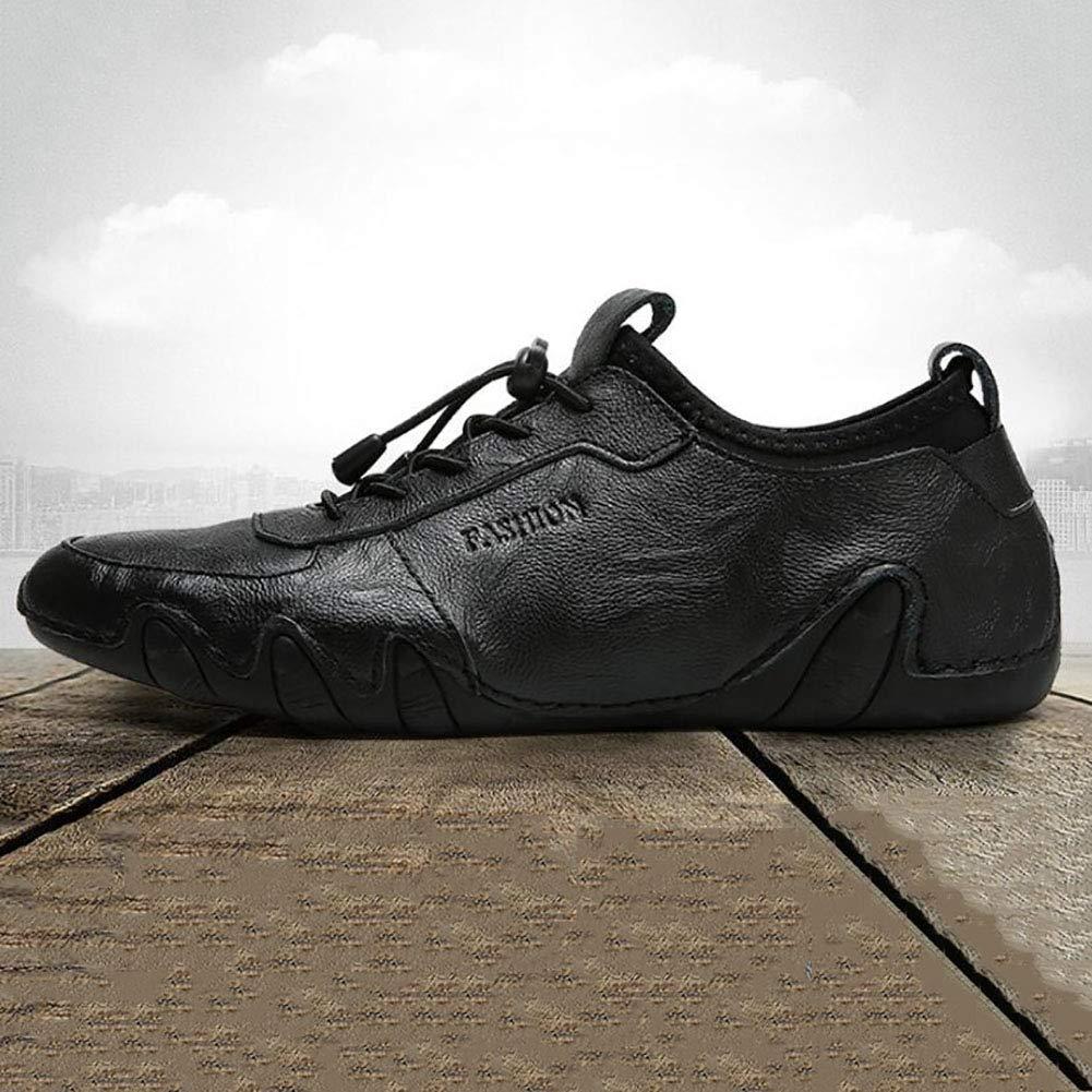 Herren Leichte Sohlen Rindsleder Herbst Komfort Freizeitschuhe Britischen Stil Stil Britischen Fahren Erbsen Schuhe d3baa4