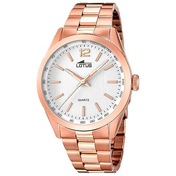 Reloj Dorado Rosé para Hombre Lotus 18148/1 Sumergible: Amazon.es: Relojes