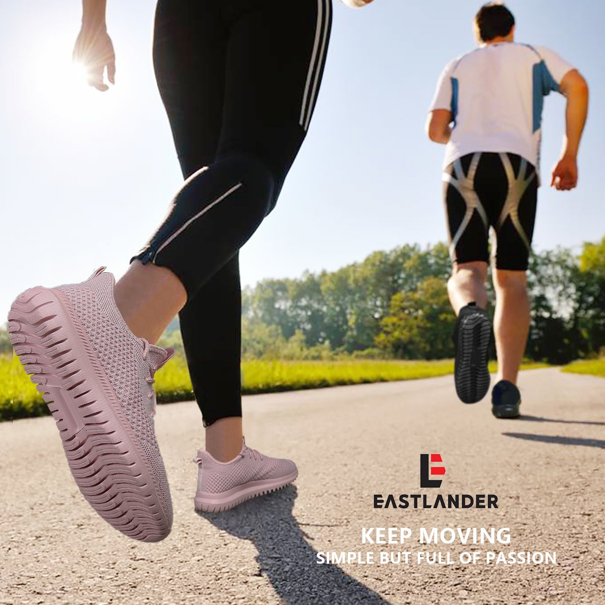 EAST LANDER Men's & Women's Sneakers Lightweight Athletic Shoes Walking Casual Sneakers Lace-up Running Sports Shoes SPT002-W1-38 by EAST LANDER (Image #7)