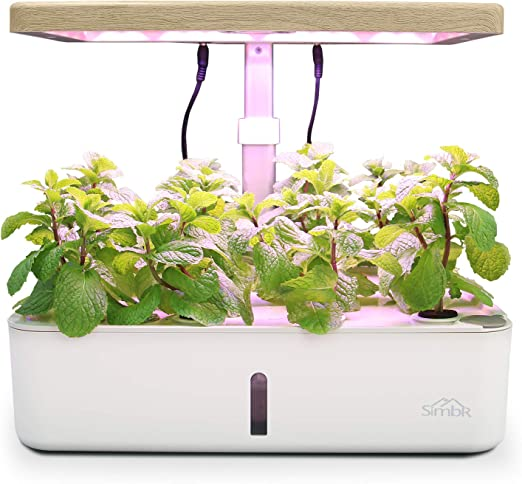 Simbr Hydroponic Growing System Herb Garden Indoor For 12 Plant Starter Kit With Led Grow Light 4l Fan And Water Pump Smart Hydroponic Planter For Home Garden Amazon Ca Home Kitchen