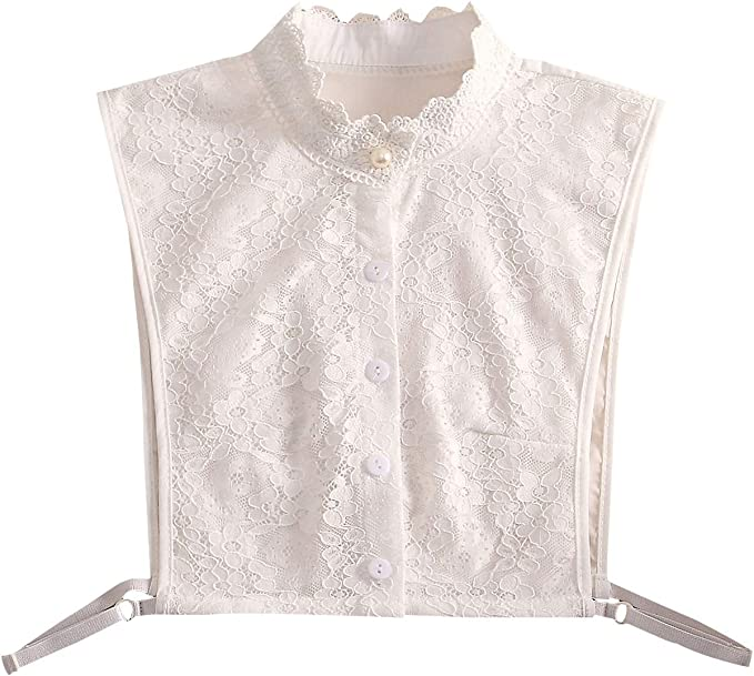 Edwardian Blouses |  Lace Blouses & Sweaters SUZALA Womens Dickey Collar Detachable Collars for Blouse $12.99 AT vintagedancer.com