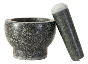 Made of Solid Granite Stone 2 Cup Capacity Spice Grinder Elm Cove LARGE Mortar and Pestle Set 6 Inch Pestle Perfect Gift for any Chef or Foodie