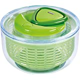 ZYLISS Easy Spin Salad Spinner, Small, Green, BPA Free