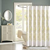 "Madison Park MP70-1464 Libreto Shower Curtain, 72 x 72"", Yellow"
