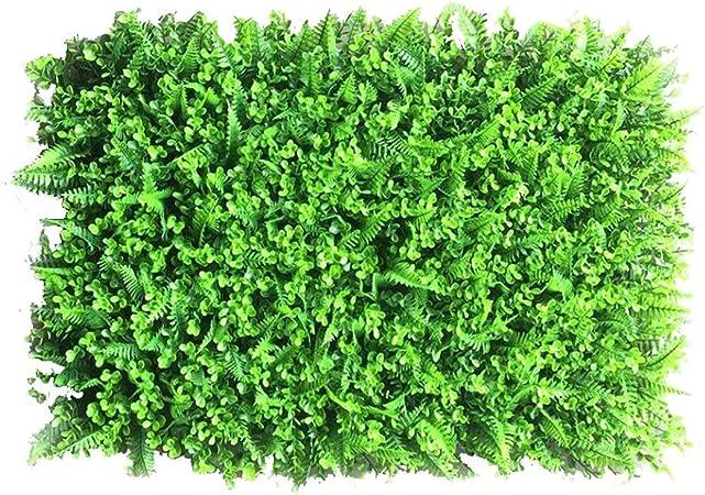 Xiaolin Arbustos Artificiales Verdes Paneles, Ivy Grass Hedges Panels Planta Muro Jardín Cerca Decoraciones de la Boda (Color : 04): Amazon.es: Hogar