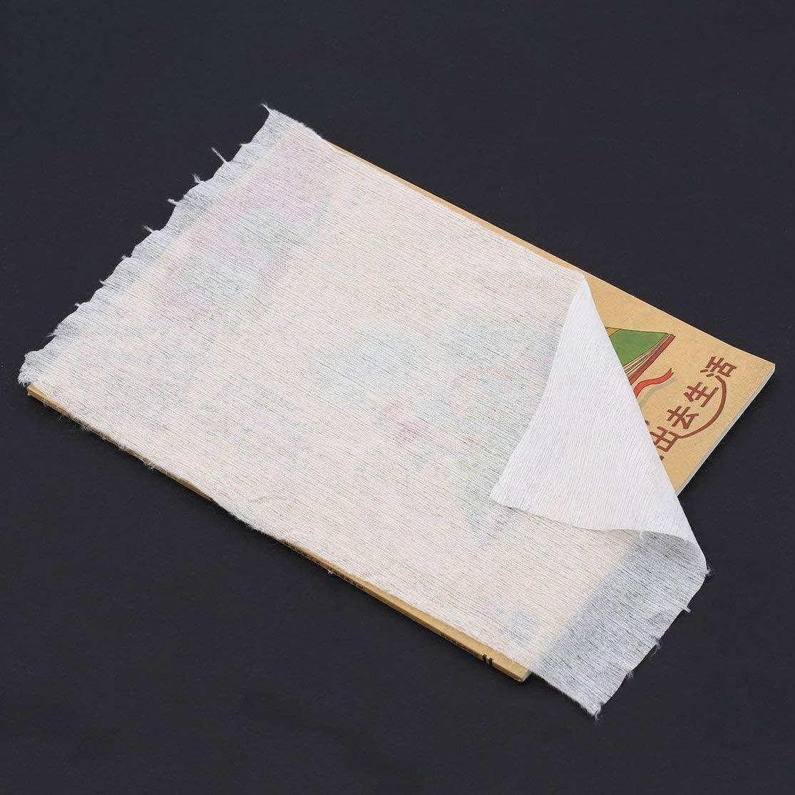 Candybarbar Le Tissu jetable biod/égradable jetable jetable dans Les Couches de b/éb/é Couche en Bambou doublures 100 Feuilles pour 1 Petit Pain 18cmx30cm