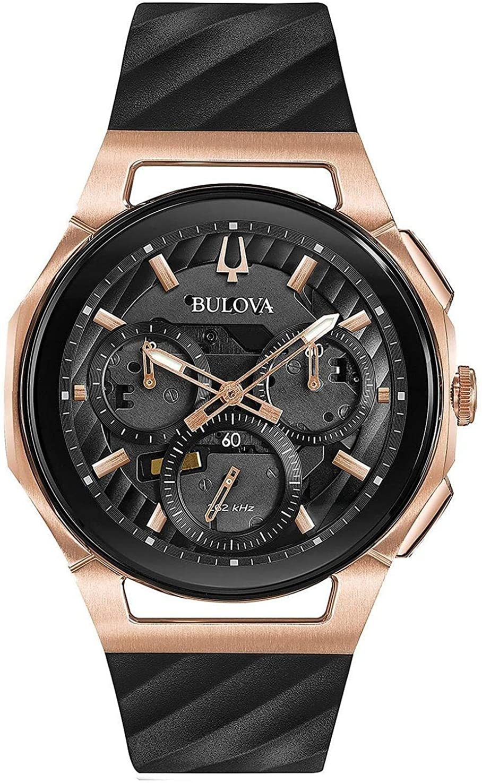 Bulova Reloj Cronógrafo para Hombre de Cuarzo con Correa en Caucho 98A185