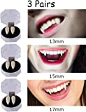 3 Pairs Vampire False Teeth Fangs Dentures Cosplay Props Halloween Costume Props Party Favors Decoration