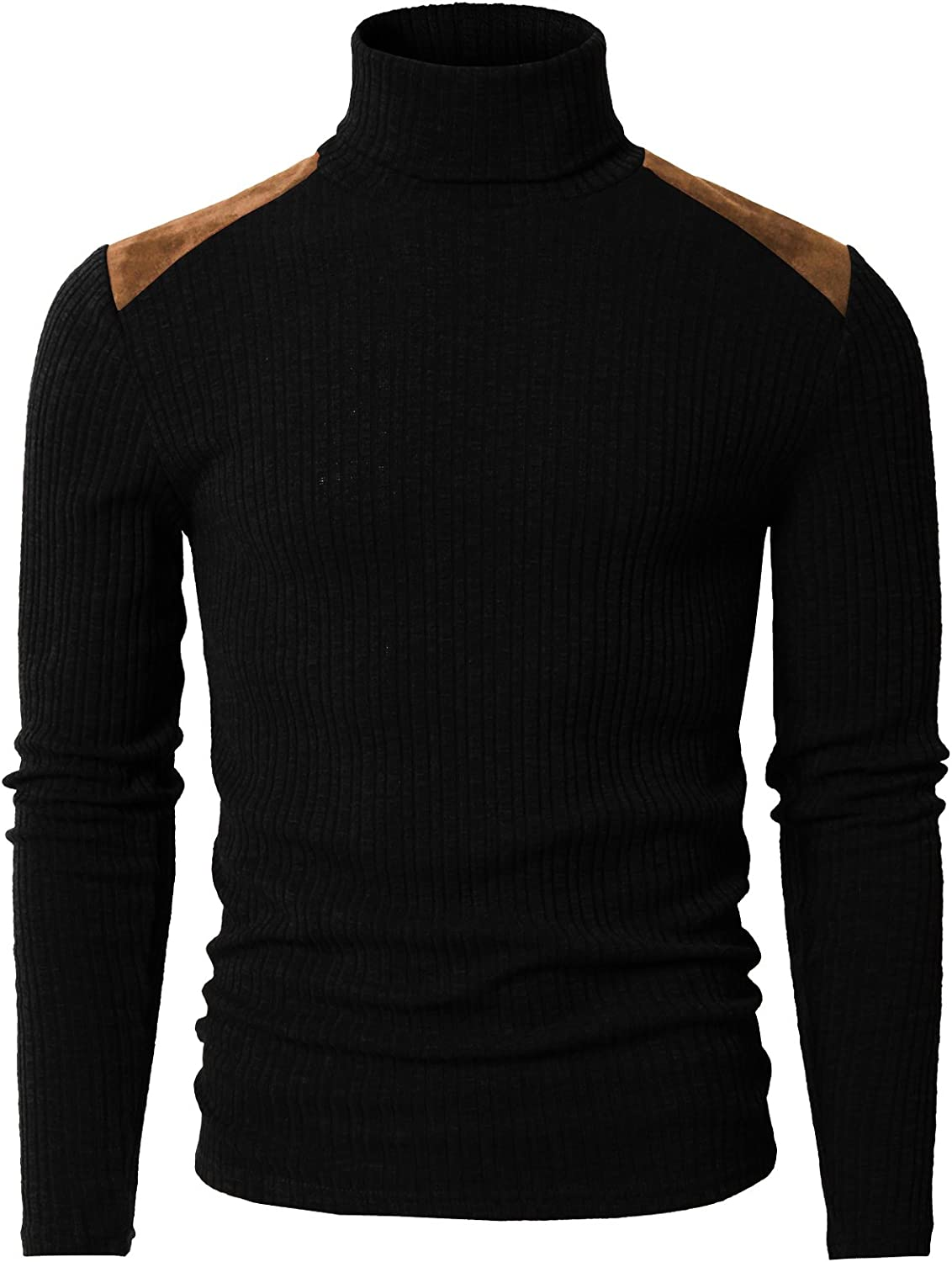 H2H Mens Slim Fit Turtleneck Pullover Sweaters Basic Tops Knitted Thermal of Various Styles