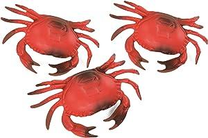 3 Plastic Crab Decorations Nautical Decor - Beach Decor - Coastal Decor - 3 pack -Luau/ Clam Bake