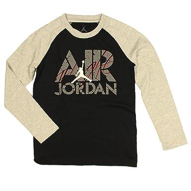 4857617d5ba Amazon.com  Jordan Nike Big Boys  Raglan Long Sleeves Cotton T-shirt ...