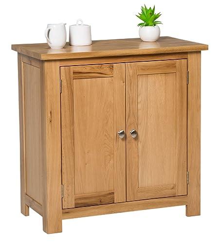 Merveilleux Waverly Oak Small Storage Cabinet In Light Oak Finish | Solid Wooden Filing  Unit Shoe Organiser