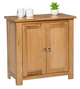 Waverly Oak Small Storage Cabinet In Light Oak Finish | Solid Wooden Filing  Unit Shoe Organiser