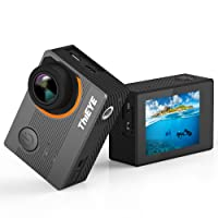 ThiEYE Action Cam 4K, E7 Action Camera Panasonic Sensor, 5,08 cm Ultra-HD IPS Display, 14MP, 60m Impermeabile,170°Angolo Ampio WIFI Fotocamera Subacquea con Funzione EIS