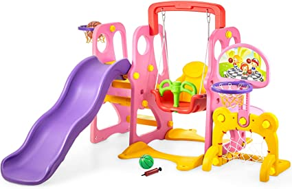 Kid Swing Set Toddler Baby Indoor Outdoor Playground Backyard Children Swingset