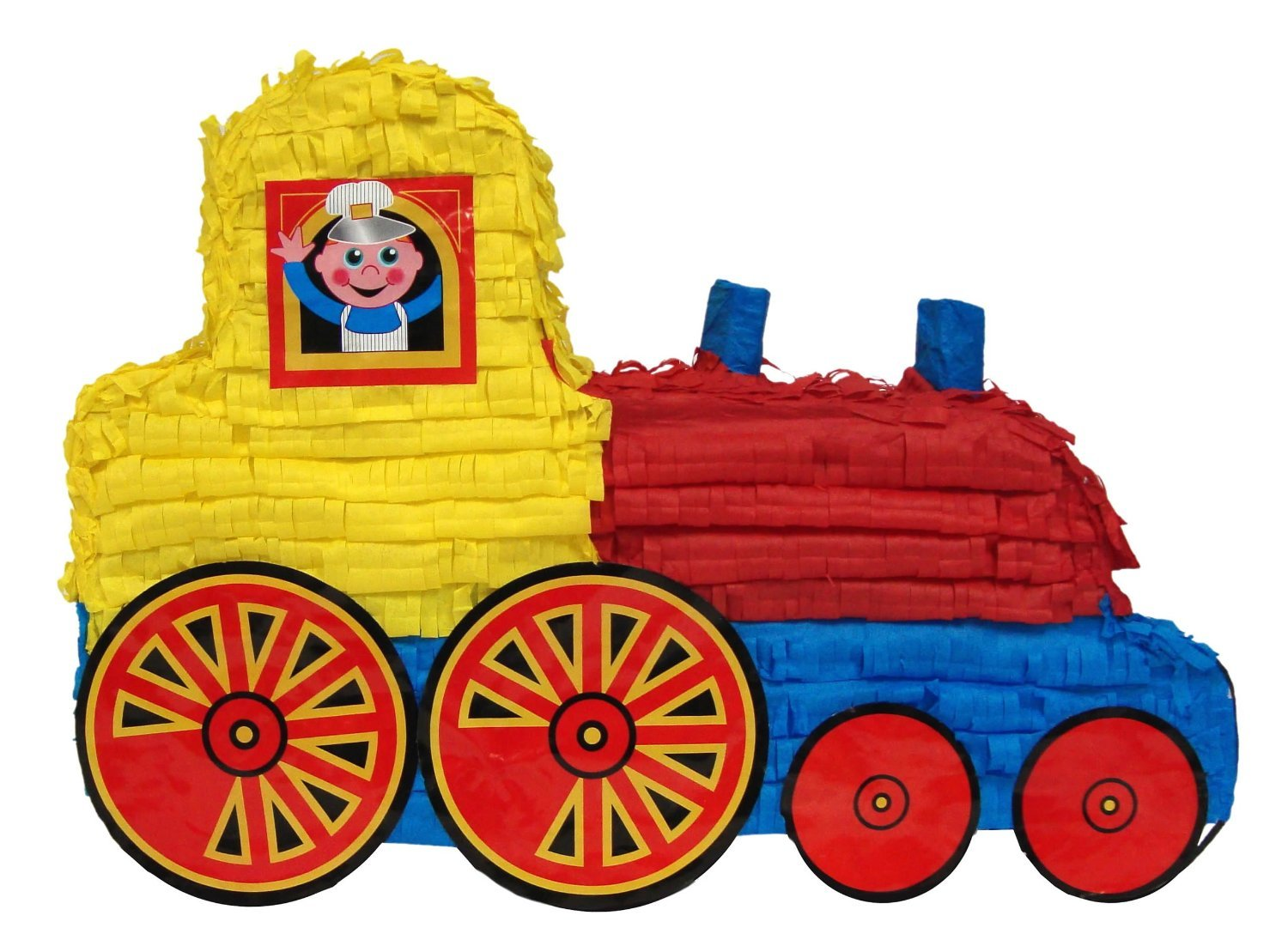 Train Pinata, 20'' Party Game, Decoration Centerpiece and Photo Prop by Pinatas