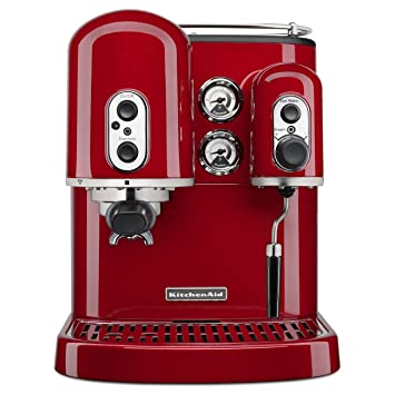 KitchenAid KES2102ER - Cafetera (Independiente, Máquina espresso, Rojo): Amazon.es: Hogar