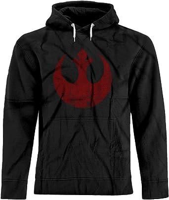 07db9ddaa6f BSW Unisex Star Wars Rebel Alliance Starbird Insignia Phoenix Hoodie XS  Black