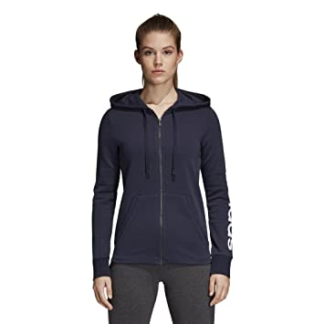 f9cadb3051b Amazon.com  adidas Women s Essentials Linear Full Zip Fleece Hoodie ...