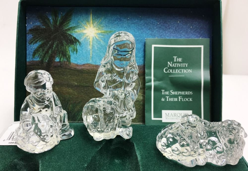 Marquis by Waterford Crystal Nativity The Shepherds & Their Flock by Waterford