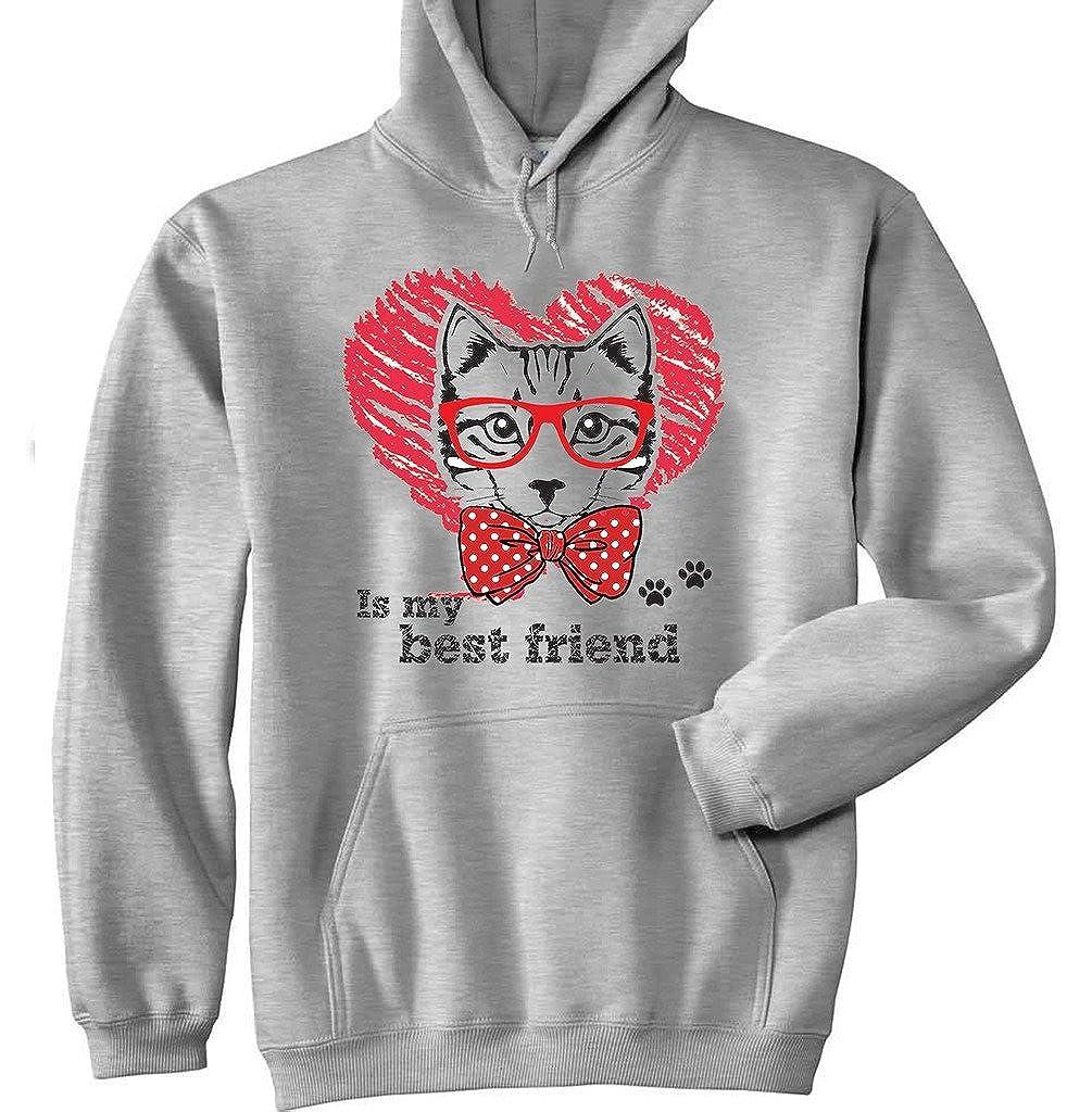 Teesquare1st CAT IS MY BEST FRIEND Sudadera con capucha: Amazon.es: Ropa y accesorios