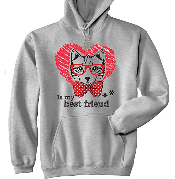 Teesquare1st CAT IS MY BEST FRIEND Sudadera con capucha: Amazon.es: Ropa y accesorios