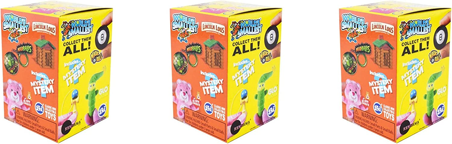 Worlds Smallest Classic Novelty Toy Series 2 Blind Boxes 3 Count