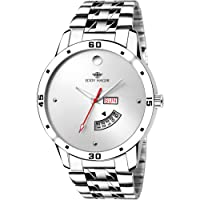 Eddy Hager Quartz Movement Analogue White Dial Men's Watch - EH-210-WH