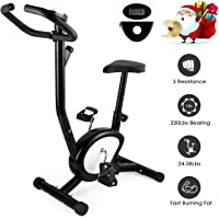 AGM Training Exercise Bike, F-Bike Home Trainer 150/200B Fitness Bike LCD Display Adjustable Height Magnetic Folding Stationary Spin Bike Cardio Home Cycling