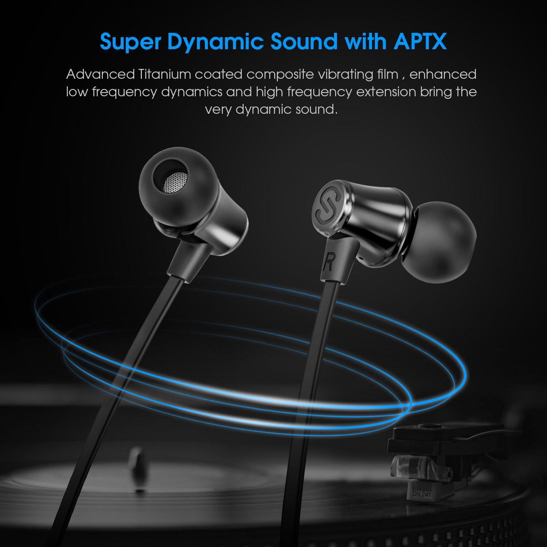 per Jogging 8 ore Durata Fitness-Nero Auricolari Bluetooth SoundPEATS Q31 Sportive a Design Simmetrico Microfono Antirumore Cuffie Bluetooth Wireless Impermeabile IPX5