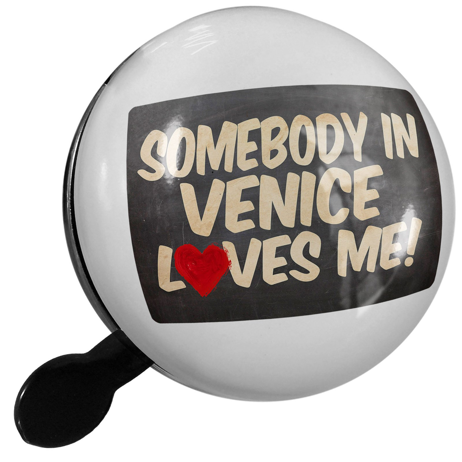 Small Bike Bell Somebody in Venice Loves me, Italy - NEONBLOND