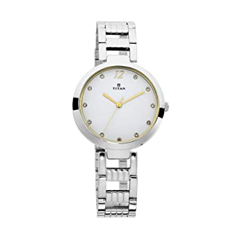 874c180df1f Titan Purple Fashion Basics Analog White Dial Women s Watch-2480SM09