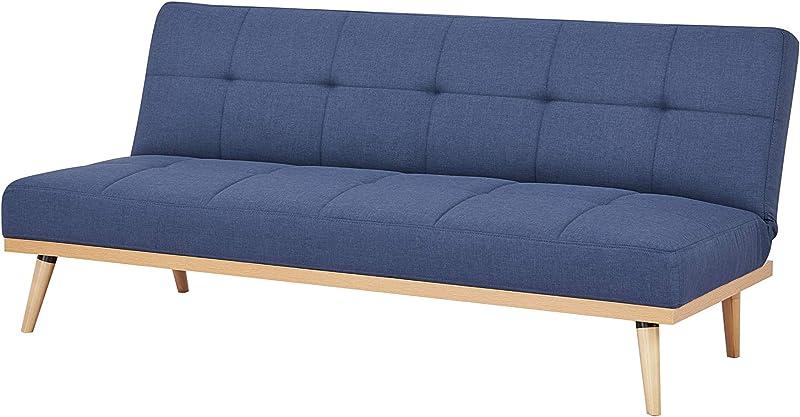 Amazonbasics-divano letto a 3 posti, 182 x 80 x 80 cm, blu scuro