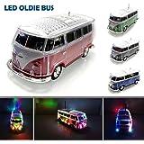 Bluetooth Box Bus mit LED Crystal Car Speaker Multimedia Radio mit MircroSD Slot USB Blau