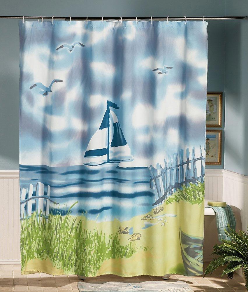 Lighthouse decor for bathroom - Amazon Com Lighthouse Decor Sea Bathroom Shower Curtain By Collections Etc Home Kitchen