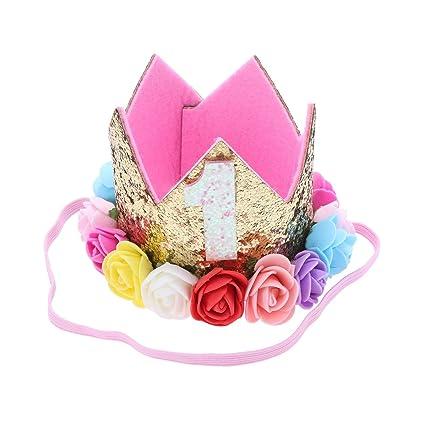 Frcolor Princesa Corona Cumpleaños Bautizo para Bebé de Flor ...